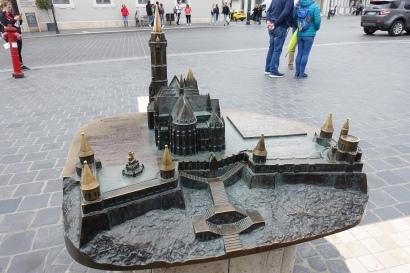 Maquette de l'église et du bastion