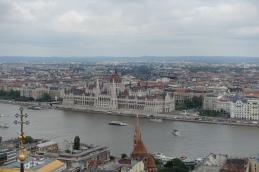 Vue sur le parlement depuis la tour